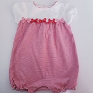 Janie and Jack 6 /12 month romper striped red